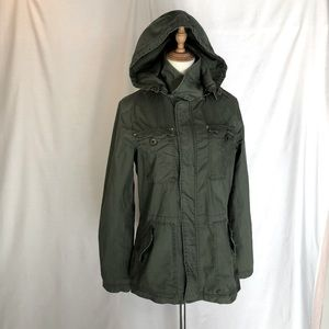 VOLCOM khaki green utility 'army' jacket SIZE 12